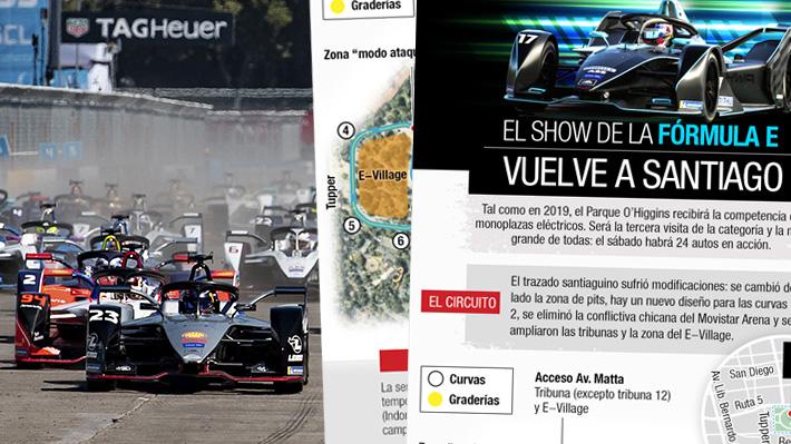 Los pilotos, el circuito, dónde se corre: Los datos para seguir la Fórmula E en Santiago