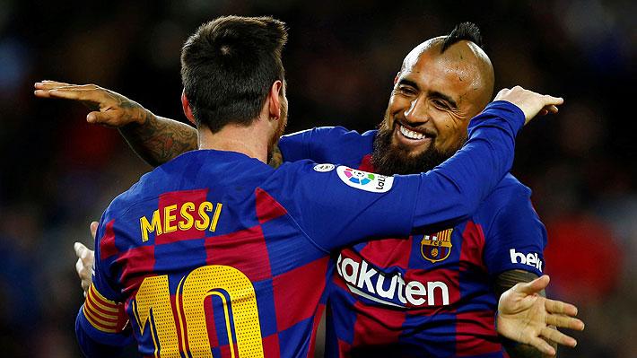 """""""Mágica asistencia del Rey"""", """"crea el gol y se hace 'cruyffista' con Setién""""... Prensa hispana se rinde ante Vidal"""