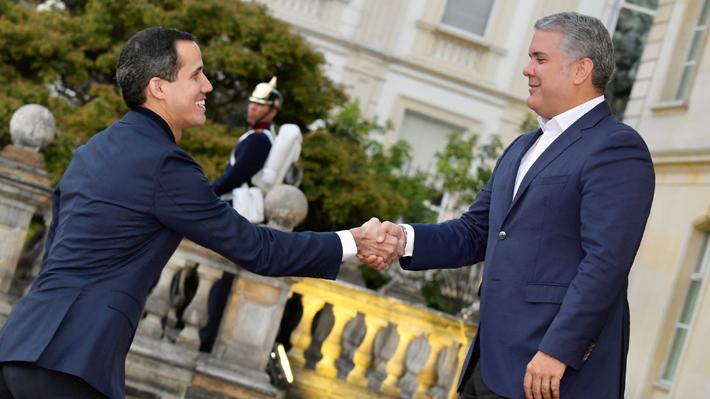 Iván Duque y Juan Guaidó llevan a cabo su primera reunión de trabajo en Bogotá
