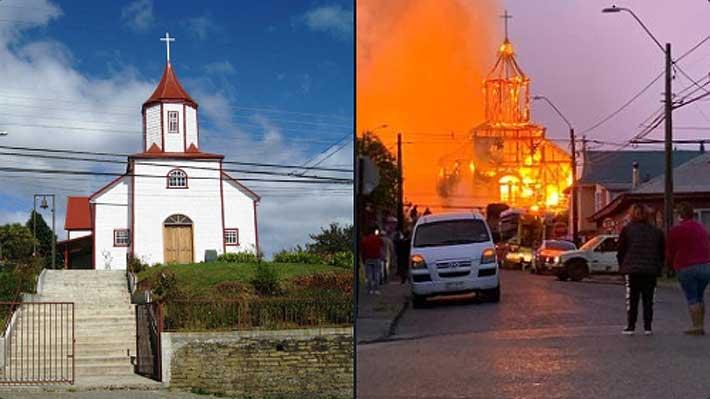 """""""Un fiel exponente del estilo neoclásico"""": Cómo era la iglesia de madera que se quemó en Ancud"""