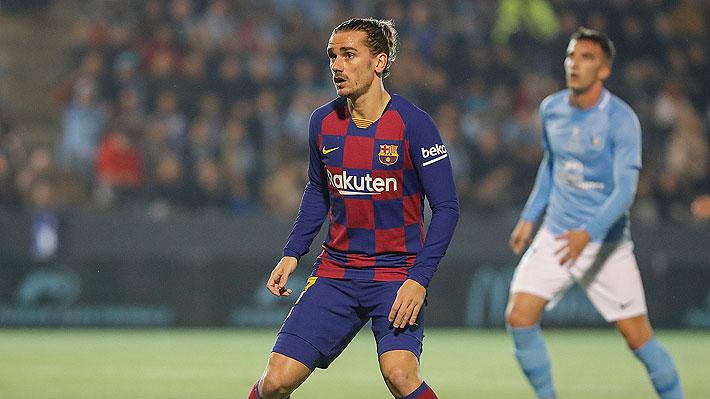 Con Vidal en los minutos finales, Barcelona se salvó de un papelón ante el modesto Ibiza gracias a un doblete de Griezmann