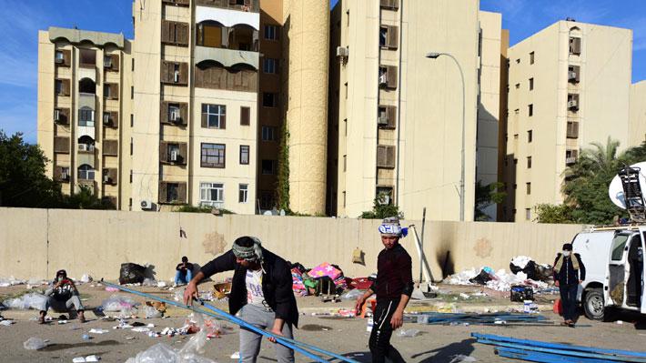 Tensión en Medio Oriente: Caen varios cohetes cerca de la embajada de EE.UU. en Bagdad