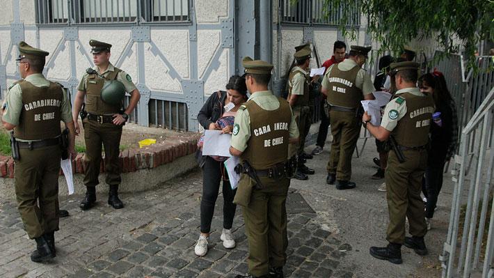 Suspenden rendición de PSU en colegio de Las Condes y USS de Providencia por disturbios