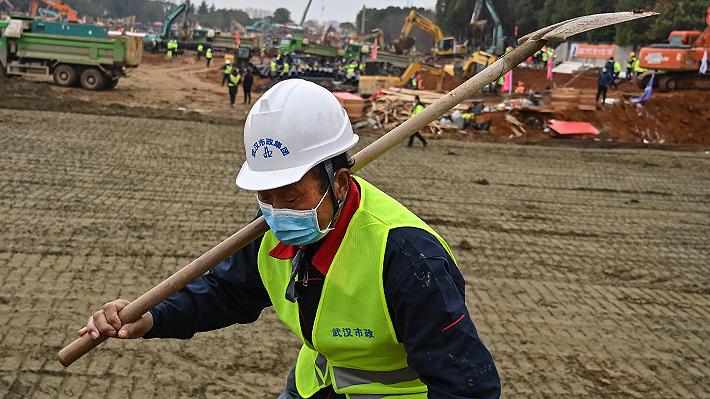 Galería: Así se construyen los dos hospitales de emergencia en China para combatir el coronavirus
