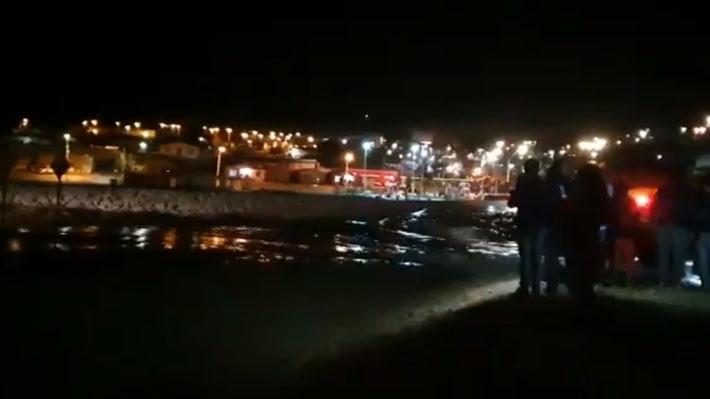 Región de Atacama: Onemi ordena evacuar sector de El Salado en Chañaral tras crecida de río por intensas lluvias