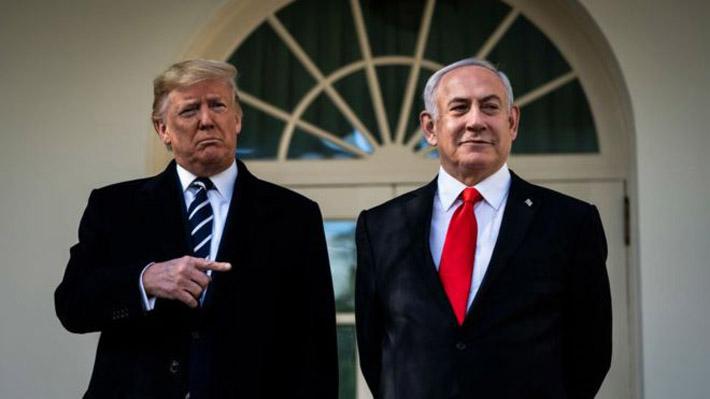 """Trump presenta un plan de paz para Medio Oriente: Propone """"una solución realista de dos estados"""""""