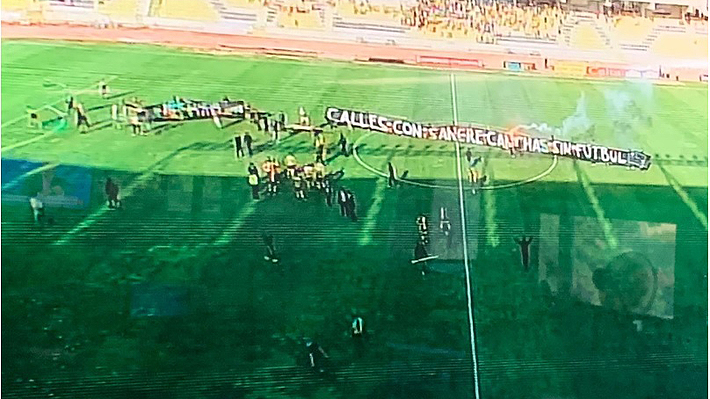 Tras graves incidentes y destrozos, el partido entre Coquimbo y Audax fue suspendido por razones de seguridad