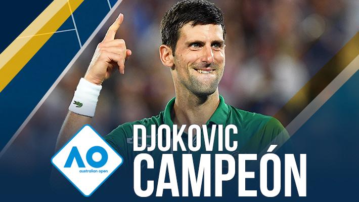 Djokovic vence a Thiem en dramática final a cinco sets, se lleva su octavo título en Australia y vuelve al número 1 del mundo