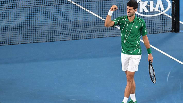 Mira el punto con el que Djokovic sentenció a Thiem ganando su octavo Abierto de Australia y su celebración