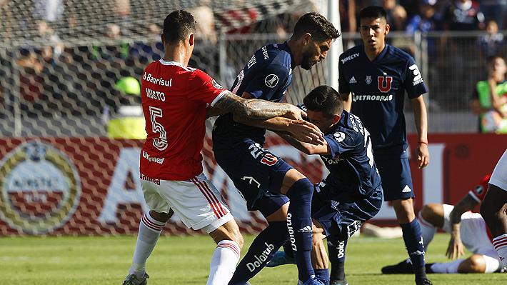 Jugando con uno menos, la U empata con Inter y definirá en Brasil su paso a la siguiente fase de la Libertadores