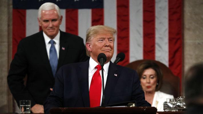 Trump entregó su tercer discurso del estado de la Unión con Guaidó entre los invitados y destacando cifras económicas
