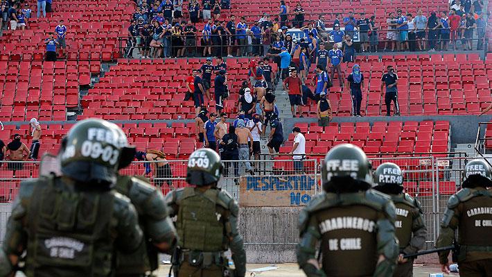A la U se le viene mano dura... Conmebol redactó lapidarios informes por hechos de violencia en el Nacional y la sanción es inminente
