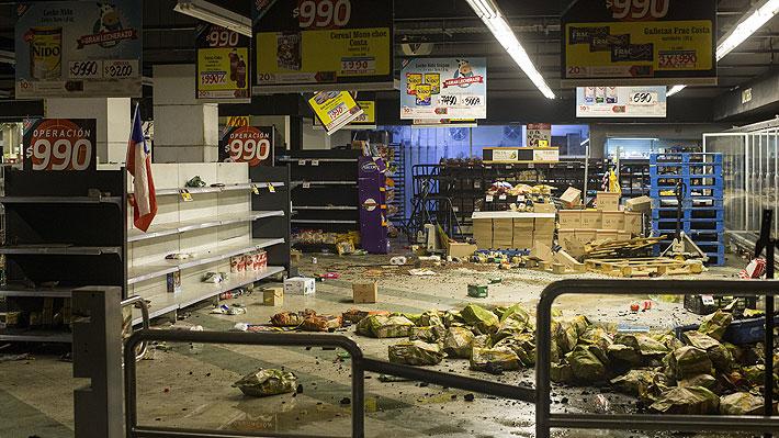 Un 11% de los supermercados de la RM aún no están operativos post 18-O: Comunas de la zona sur son las más afectadas