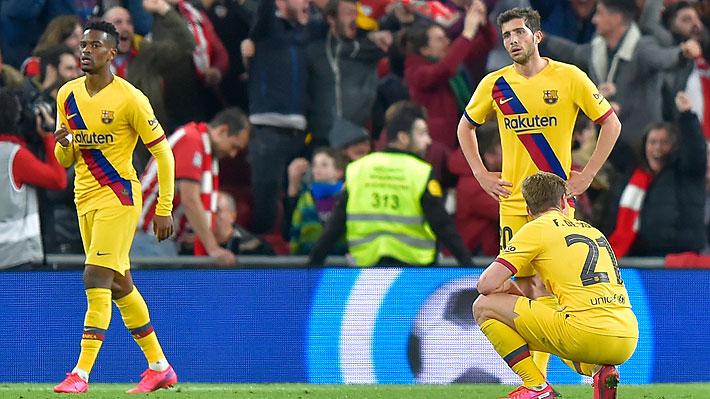Barcelona sin Vidal siente el golpe de su crisis interna y fracasa al quedar eliminado de la Copa del Rey ante Athletic