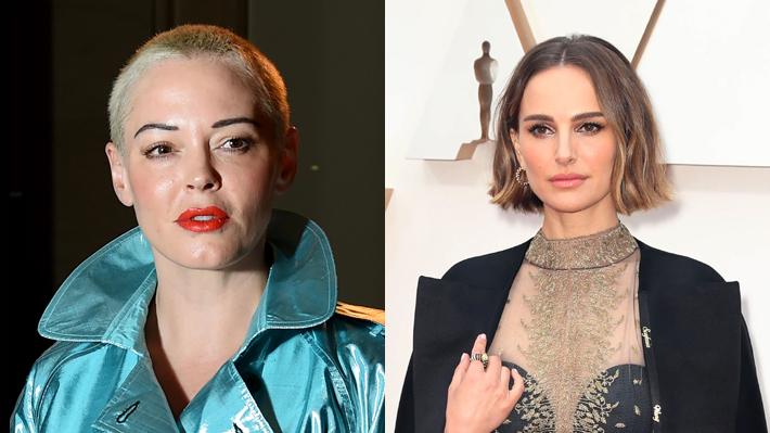 """Actriz Rose McGowan tilda de """"hipócrita"""" a Natalie Portman por la capa que usó en los Oscar en apoyo a las directoras ausentes"""