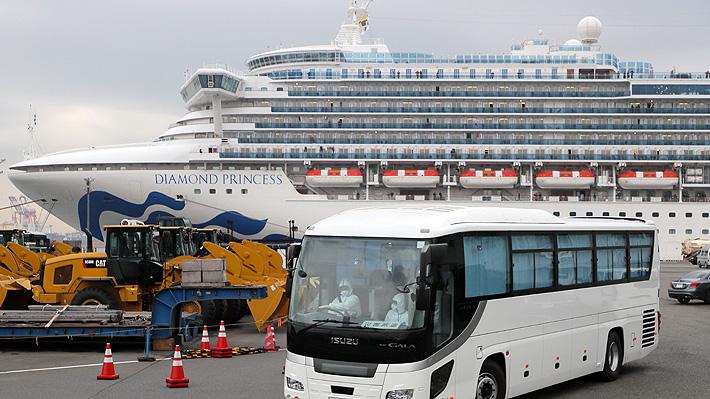 Salen primeros pasajeros de crucero puesto en cuarentena en Japón por coronavirus