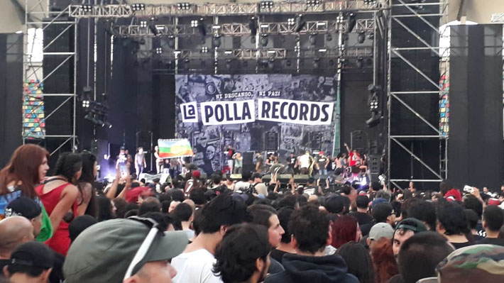 Suspenden concierto de La Polla Records tras incidentes en el Estadio Bicentenario de La Florida