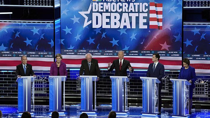 Debate demócrata en Las Vegas: Michael Bloomberg y Bernie Sanders concentraron los principales ataques de sus rivales