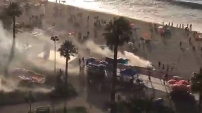 Incidentes tras fiscalización a comercio ambulante en Viña del Mar culminan con carabinero herido