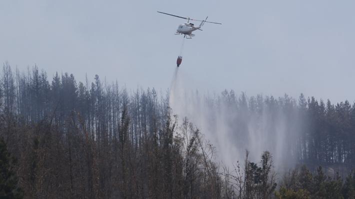 Declaran alerta roja en Tucapel por incendio que amenaza viviendas e infraestructura crítica
