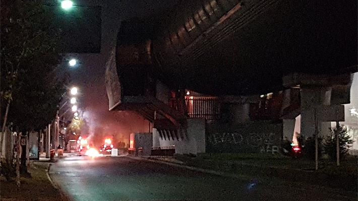 Nuevas protestas en La Florida terminan con serios incidentes y amago de incendio al interior del metro Los Quillayes