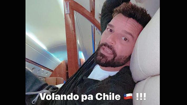 """Ricky Martin aterriza en Chile para presentarse en el Festival de Viña 2020: """"Voy a dejar mi alma en el escenario como siempre"""""""