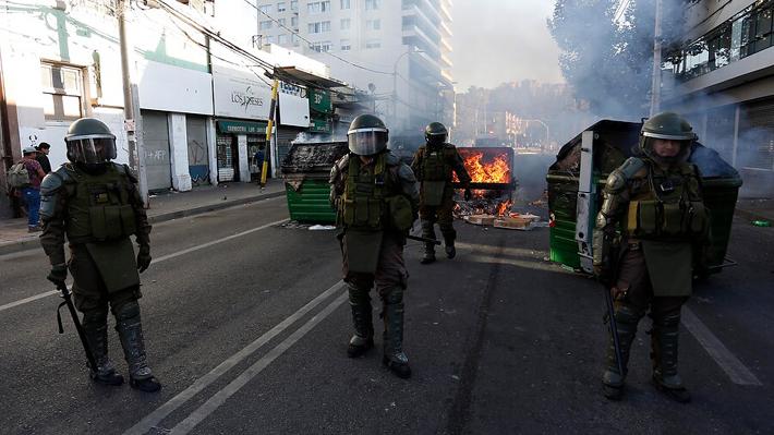 Tercera jornada del Festival: Carabineros informa que hubo 45 detenidos y que incidentes fueron menores