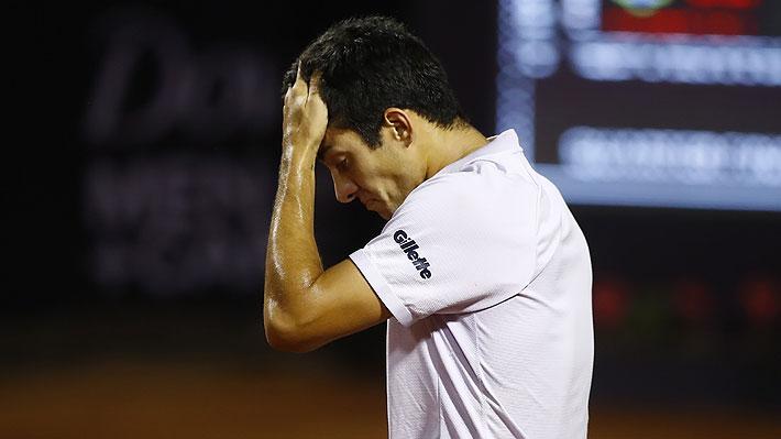 Triste final para Garin... El chileno se retira tras perder el primer set ante Seyboth Wild en los cuartos del ATP de Santiago
