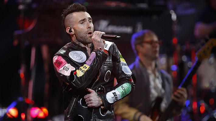 Maroon 5 y Adam Levine salda deuda con el público chileno con un interactivo show en La Florida