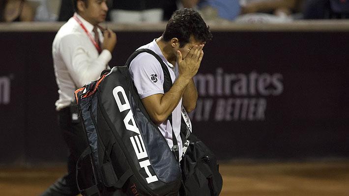 Tras retirarse en Santiago, Garin deja en duda su participación en la Davis y explica que jugó a pesar de que le recomendaron no hacerlo