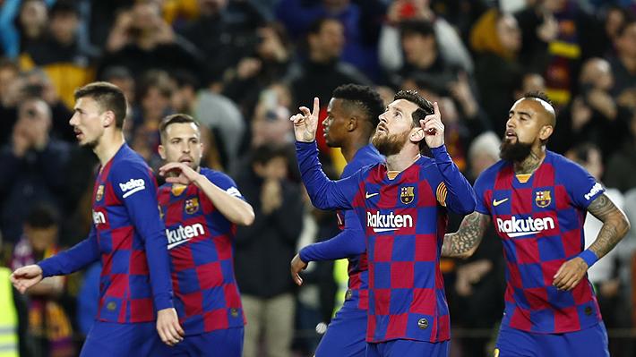 Vidal ingresó sobre el final de victoria del Barcelona, que trepa al liderato a la espera del Madrid