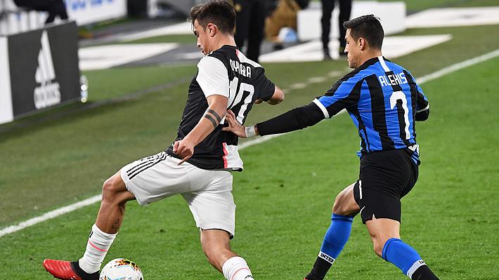Alexis ingresó sobre el final y poco pudo hacer en la derrota del Inter ante Juventus que lo aleja de la cima en la Serie A