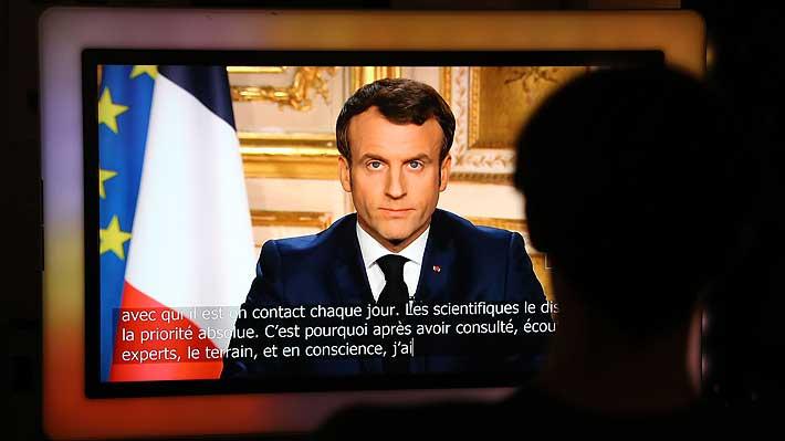"""Macron anuncia cuarentena de 15 días en Francia: """"Estamos en guerra (...) el enemigo está aquí, invisible"""""""