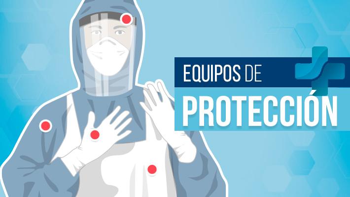 El equipo de protección personal que debiese portar cada funcionario sanitario durante su trabajo