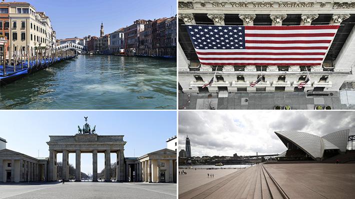 Galería: Las calles de un mundo sin gente, grandes ciudades permanecen en quietud esperando el fin de la pandemia