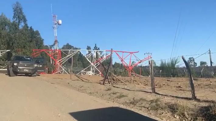 Carabineros investiga derribo de antena de telecomunicaciones tras explosiones en la región del Biobío