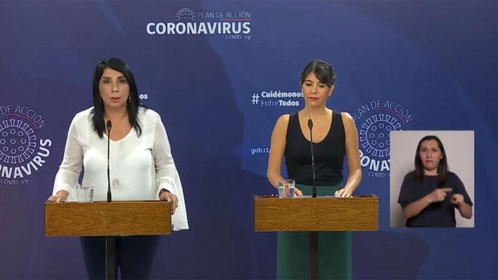 """La vocería """"interactiva"""" de Rubilar y Martorell para responder las dudas sobre la cuarentena en siete comunas de la RM"""