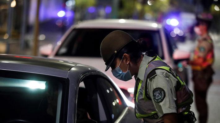 Carabineros informa que primera noche de cuarentena en 7 comunas de la RM no dejó detenidos