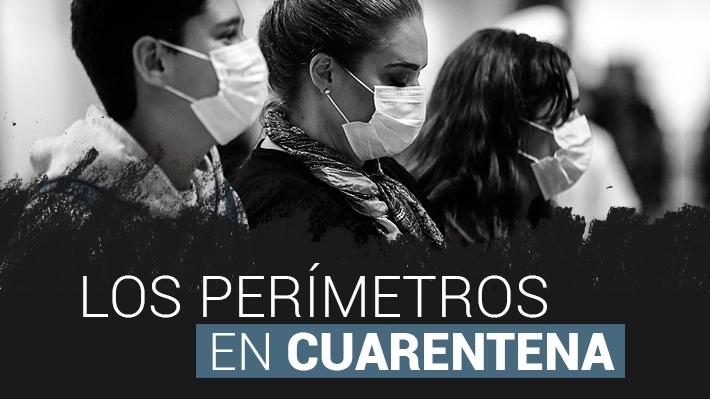 Mapas: Cómo irá cambiando la cuarentena obligatoria en la Región Metropolitana antes y después de Semana Santa