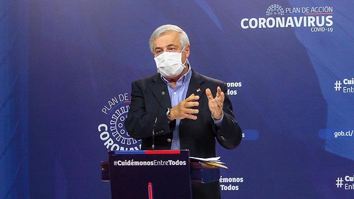 """Mañalich recalca que la violación de medidas como la cuarentena """"se traducen en muertes"""""""