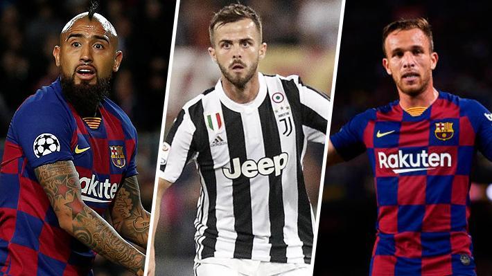 ¿Afectará a Vidal? El potente trueque entre Barcelona y Juventus del que se habla en Europa y que podría remecer el próximo mercado