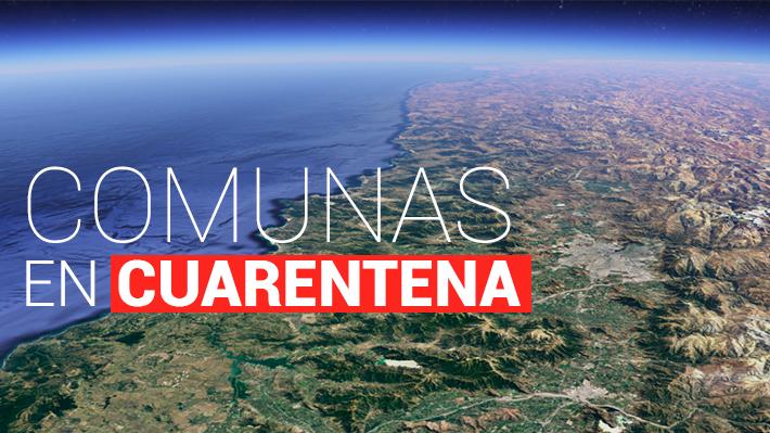 Conoce el detalle y los mapas de las comunas en cuarentena en todas las regiones del país