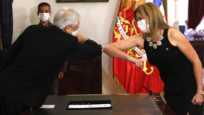 Presidente Piñera toma juramento a Macarena Santelices como nueva ministra de la Mujer