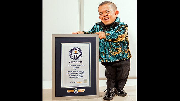 Colombiano de 34 años es reconocido como el hombre vivo más pequeño del mundo: Mide 72,10 centímetros