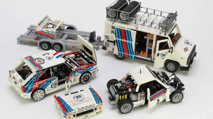 Fanático del rally y de Lego hizo una asombrosa réplica del legendario equipo Lancia Martini