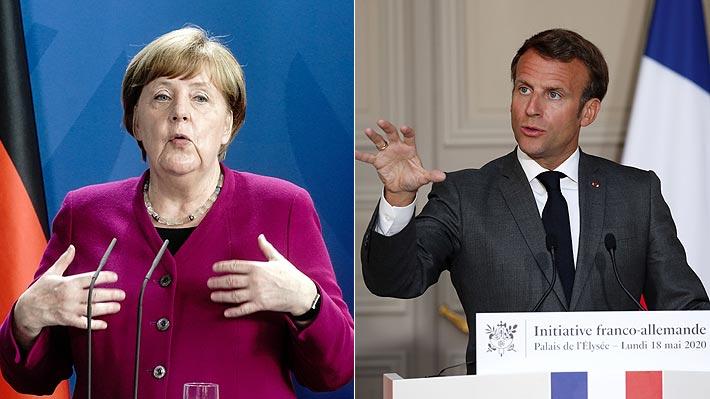 Merkel y Macron proponen crear un fondo de 500.000 millones de euros para la recuperación económica de la UE