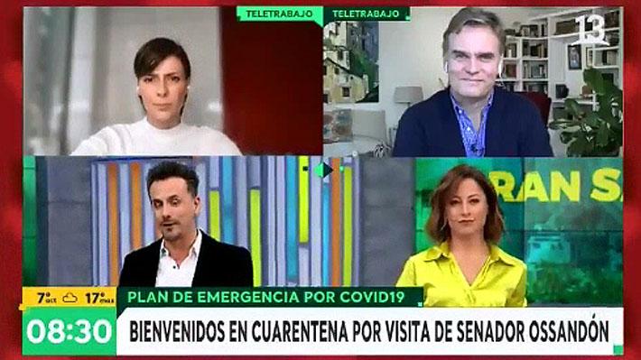 """Tonka Tomicic y Amaro Gómez-Pablos vuelven a animar desde sus casas tras visita del senador Ossandón a """"Bienvenidos"""""""