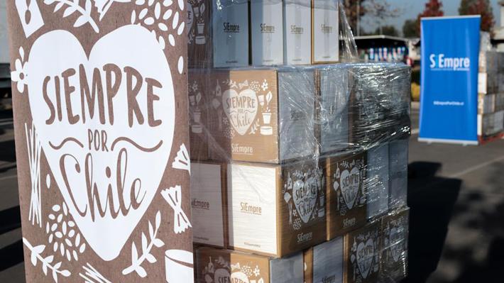 El detalle de qué productos contienen las cajas de alimentos que están siendo entregadas por el mundo empresarial