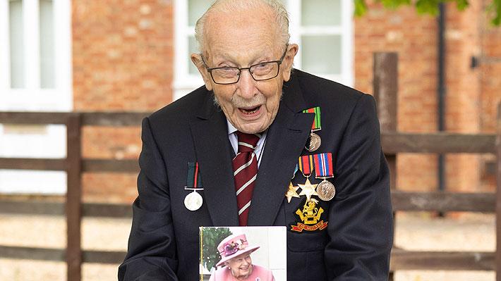 """Tom Moore, el británico de 100 años que reunió dinero para el sistema de salud de su país, será nombrado """"caballero"""""""