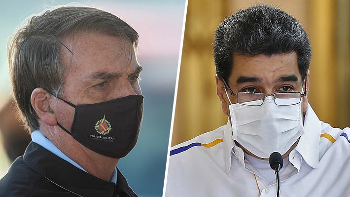 Bolsonaro y Maduro, dos líderes enfrentados en lo ideológico pero unidos por la cloroquina